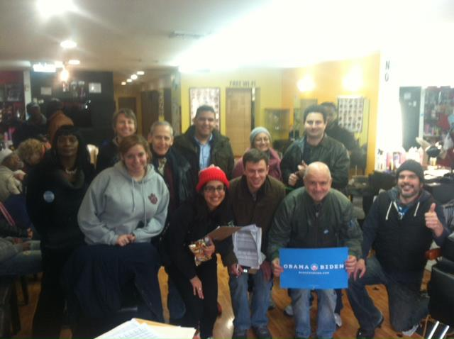 Greater NYC for Change members helped register voters in Allentown, PA in fall 2012. This is Team Barbershop, a group canvassers who worked out of a local business!