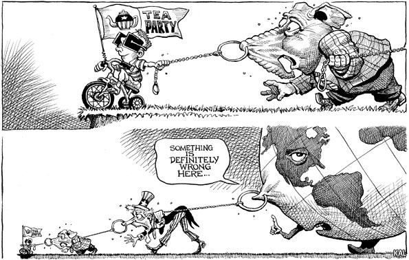 Tea Party Grabs the World by the Nose