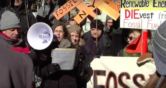 350NYC's Divestment Rally. February 2015.